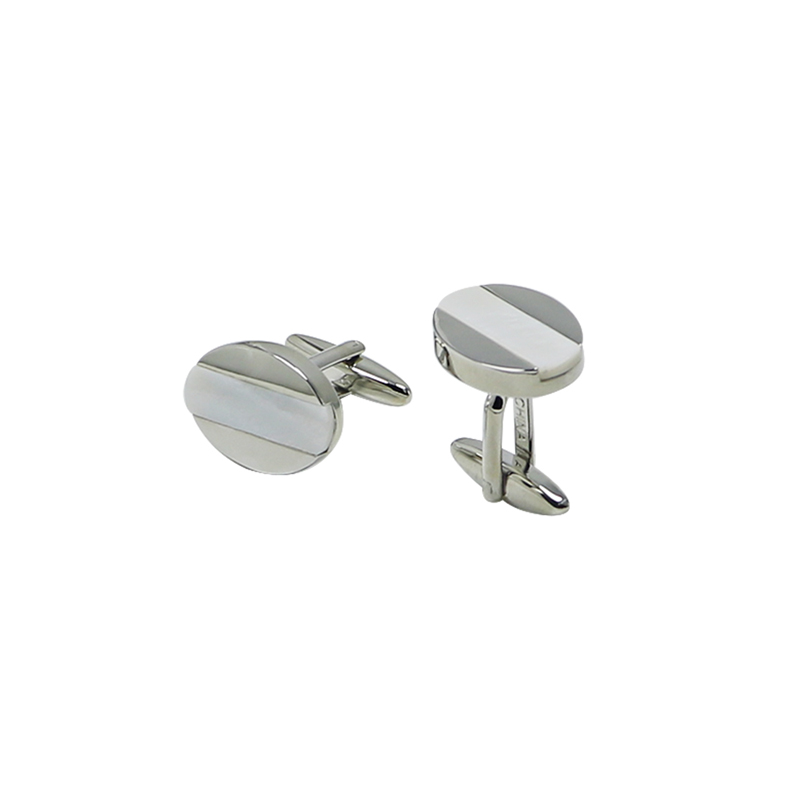 Mother of Pearl Oval Custom Men\'s Cuff Links