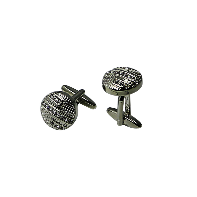 Stripe Crystal Cool Suit Cuff Links